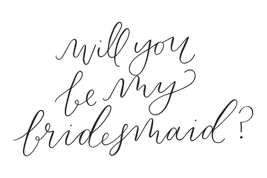 Will You Be My ... Bridesmaid / Maid of Honor (Free Printables Cards)